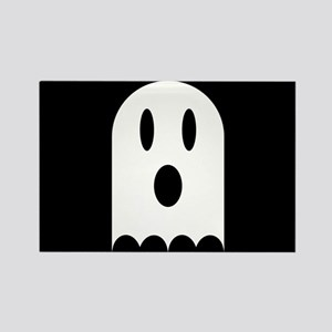 Cute Scary Halloween Ghost Rectangle Magnet
