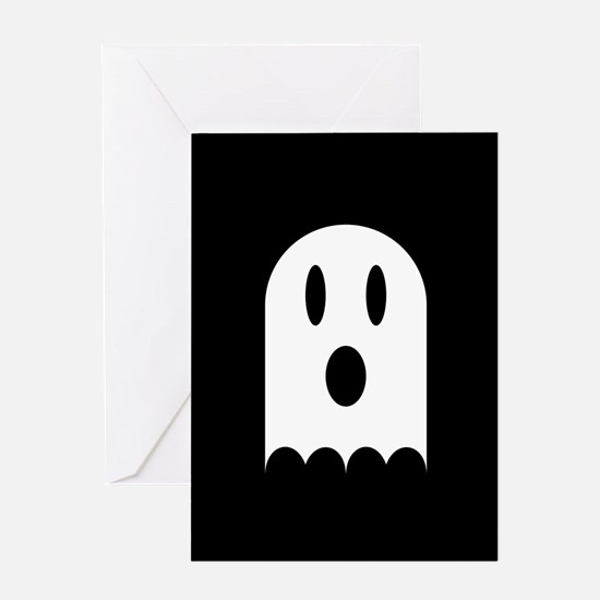 Cute Scary Halloween Ghost Greeting Card