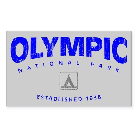 Olympic National Park (Arch) Rectangle Sticker