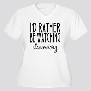 Elementary TV Sho Women's Plus Size V-Neck T-Shirt