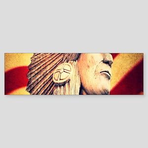 USA patriotic native american Bumper Sticker
