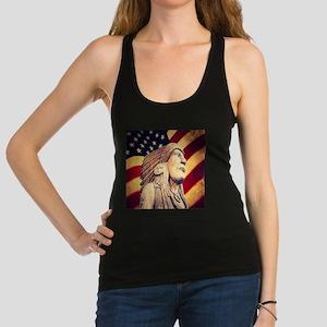USA patriotic native american Racerback Tank Top