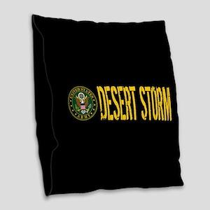 U.S. Army: Desert Storm Burlap Throw Pillow