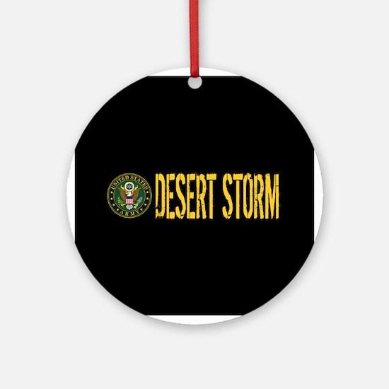 U.S. Army: Desert Storm Round Ornament