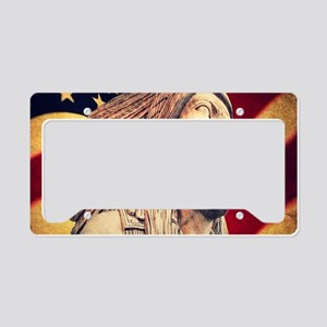 USA patriotic native american License Plate Holder