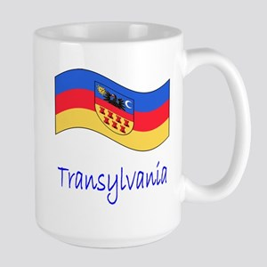 Waving Transylvania Historical Flag Large Mug