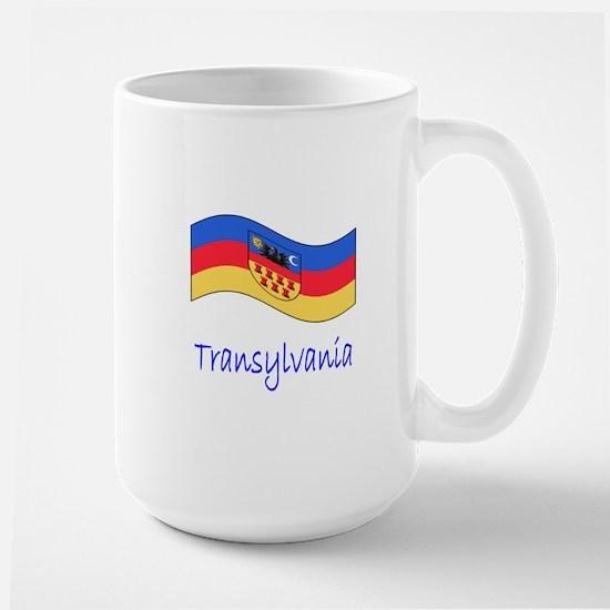 Waving Transylvania Historical Flag Large Mug