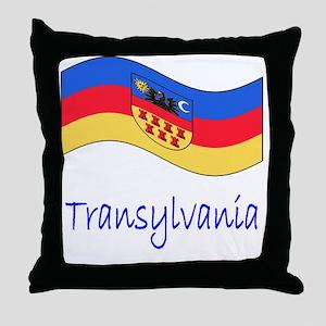 Waving Transylvania Historical Flag Throw Pillow