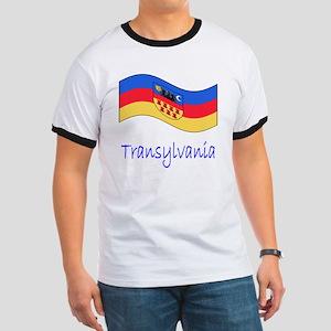 Waving Transylvania Historical Flag Ringer T