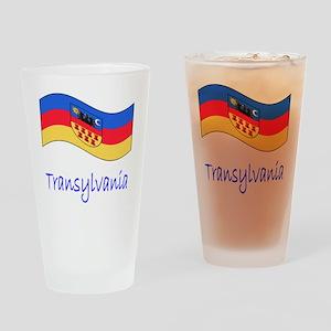 Waving Transylvania Historical Flag Drinking Glass