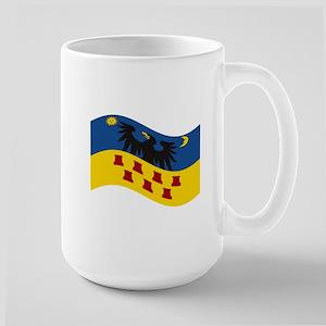 Waving Transylvania Historical Flag #2 Large Mug