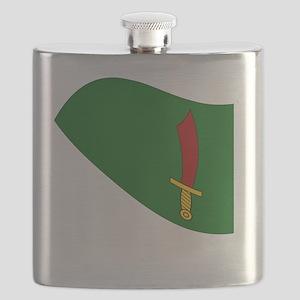 Waving Transylvania Historical Flag #3 Flask