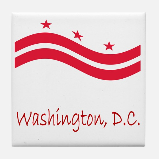 Waving Washington Flag Tile Coaster