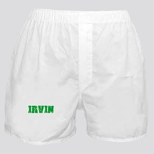 Irvin Name Weathered Green Design Boxer Shorts