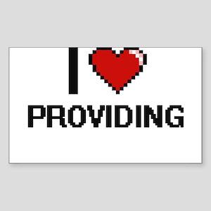 I Love Providing Digital Design Sticker