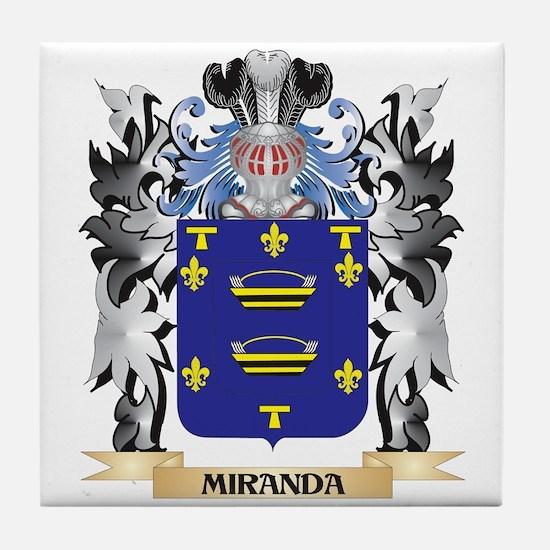 Miranda Coat of Arms - Family Crest Tile Coaster