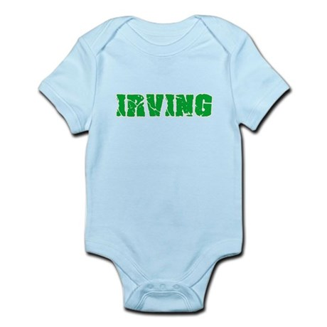 Irving Name Weathered Green Design Body Suit