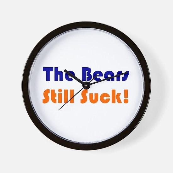 Bears Still Suck Wall Clock