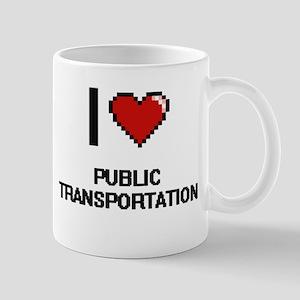 I Love Public Transportation Digital Design Mugs