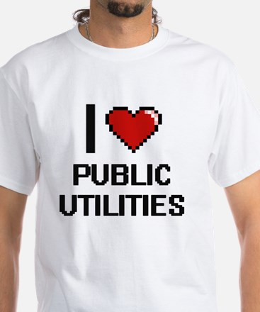 I Love Public Utilities Digital Design T-Shirt