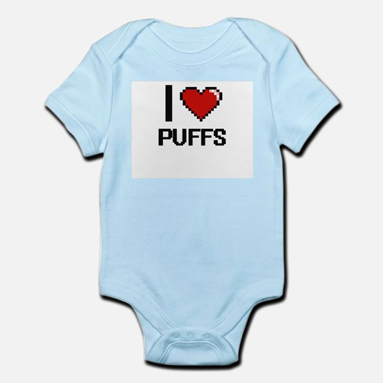I Love Puffs Digital Design Body Suit