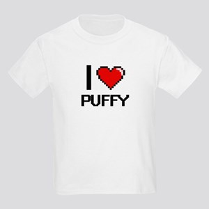I Love Puffy Digital Design T-Shirt