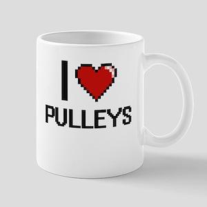 I Love Pulleys Digital Design Mugs