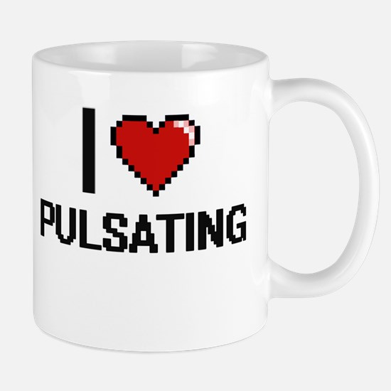 I Love Pulsating Digital Design Mugs