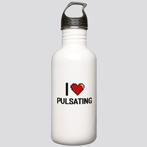 I Love Pulsating Digit Stainless Water Bottle 1.0L