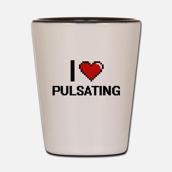 I Love Pulsating Digital Design Shot Glass