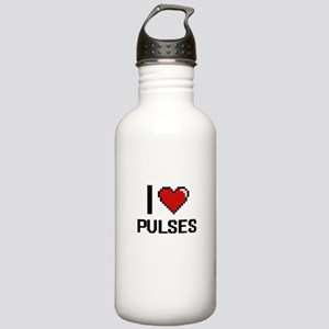 I Love Pulses Digital Stainless Water Bottle 1.0L