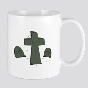 Halloween Graveyard Mugs