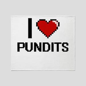 I Love Pundits Digital Design Throw Blanket