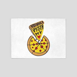 Pizza Mania 5'x7'Area Rug