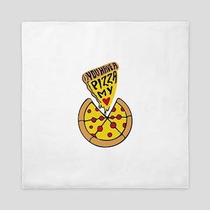 Pizza Mania Queen Duvet