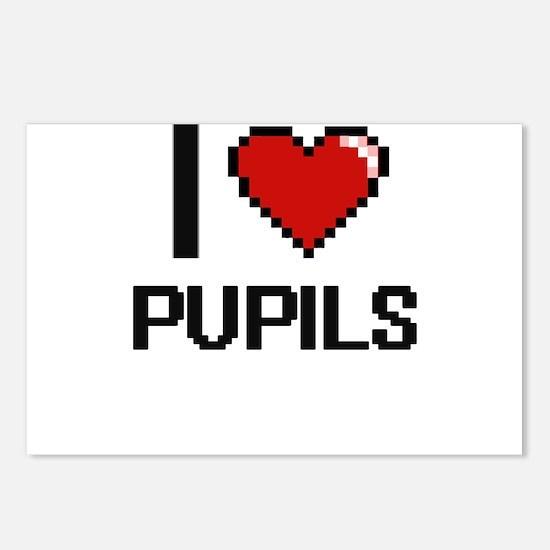 I Love Pupils Digital Des Postcards (Package of 8)
