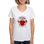 Entenza Family Crest Women's V-Neck T-Shirt