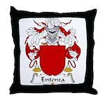 Entenza Family Crest Throw Pillow
