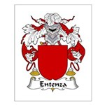 Entenza Family Crest Small Poster