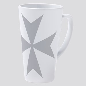 Silver Maltese Cross 17 Oz Latte Mug