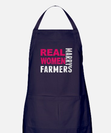 Real Women Marry Farmers Apron (dark)