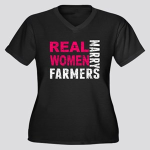 Real Women Marry Farmers Plus Size T-Shirt
