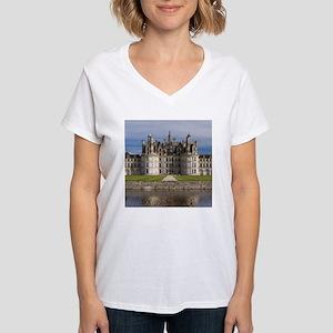 CHAMBORD CASTLE Women's V-Neck T-Shirt