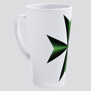 Green Maltese Cross 17 Oz Latte Mug