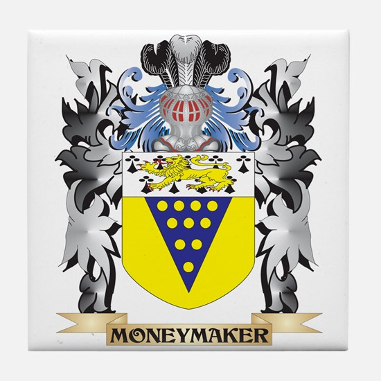 Moneymaker Coat of Arms - Family Cres Tile Coaster