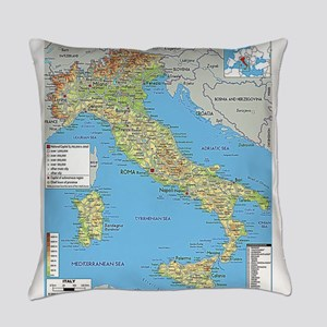 Map of Italy Everyday Pillow