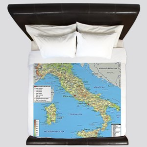 Map of Italy King Duvet