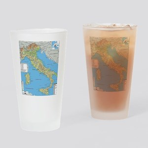 Map of Italy Drinking Glass