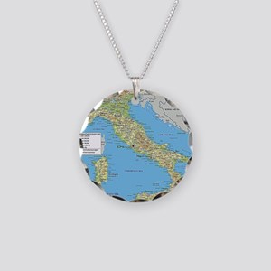 Map of Italy Necklace
