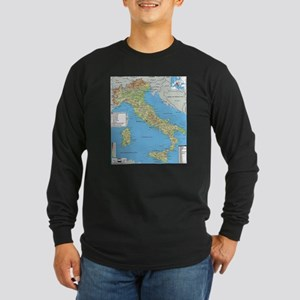 Map of Italy Long Sleeve T-Shirt
